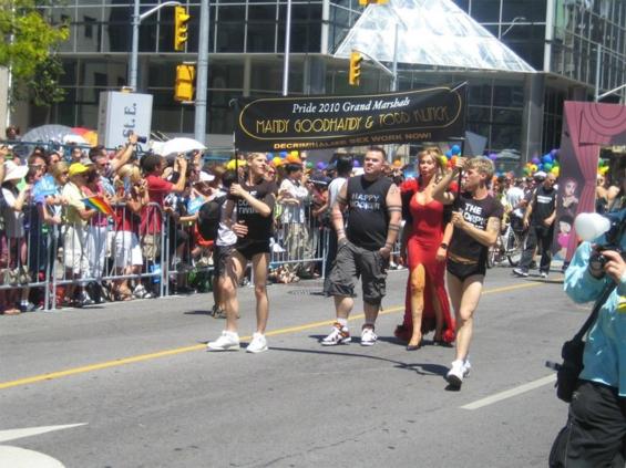 Grand Marshalls Pride Toronto 2010 parade.