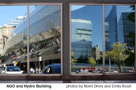 AGO and Hydro building.