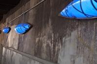Light Canoe blue lights.