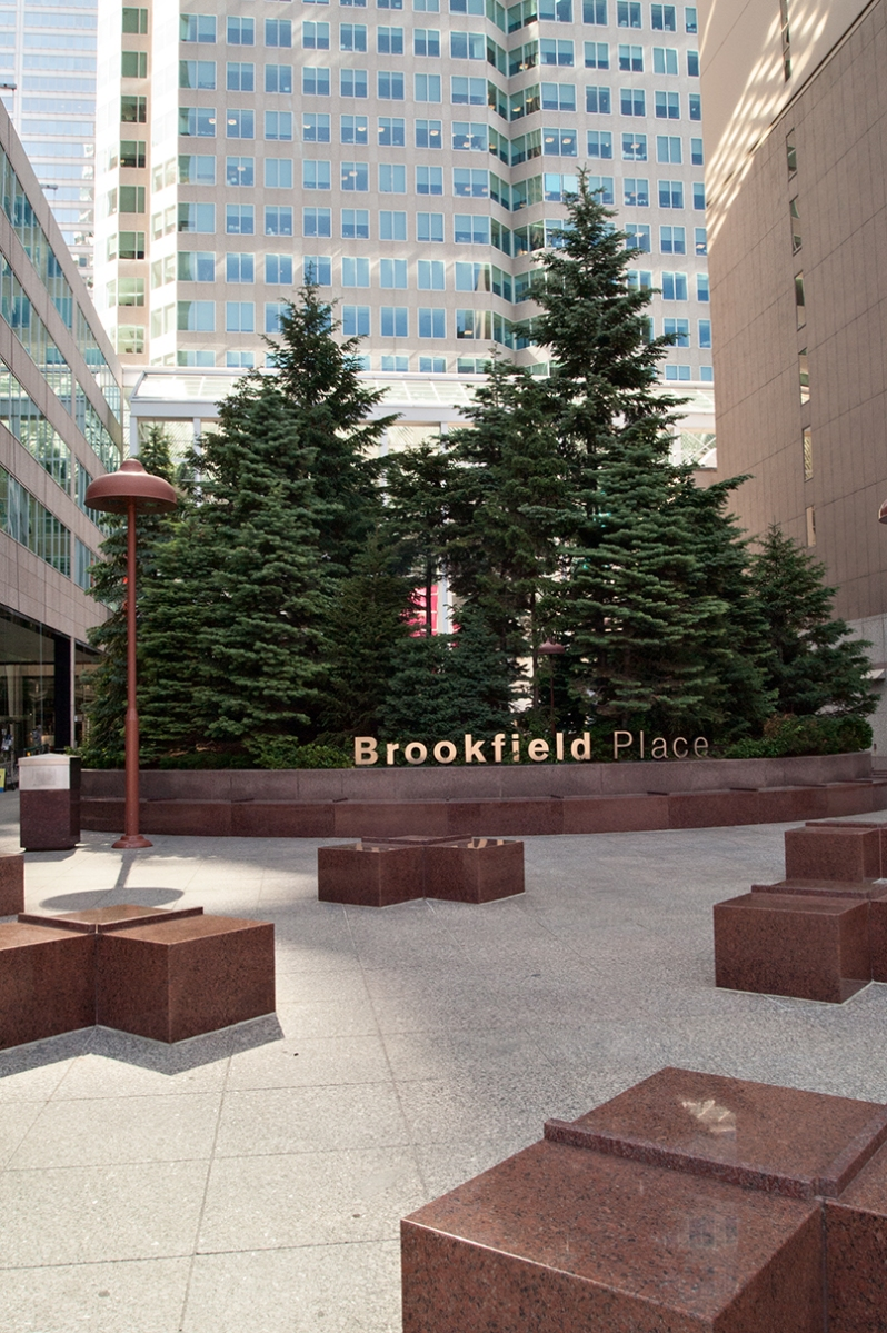 Brookfield Place sign.