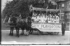 City Playground float in 1915 Labour Day parade.