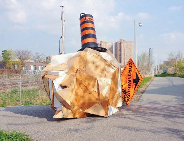 Art intervention on the Railpath.