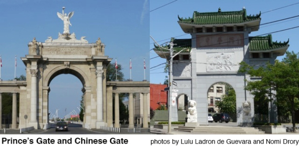 Prince's Gate and Chinese Gate in Toronto.
