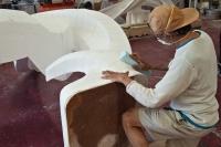 Sanding sculpture.