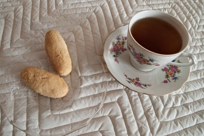 Cookies and tea.