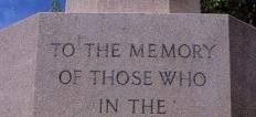 Cenotaph words.