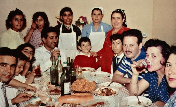 Family at table in Casablanca