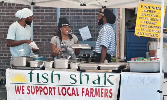 Fish Shak at market.
