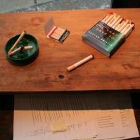 Book cover cigarettes.