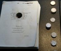 Manuscript with core samples.