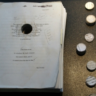 Manuscript with core samples.