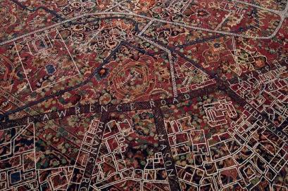 Detail of carpet, contemporary.