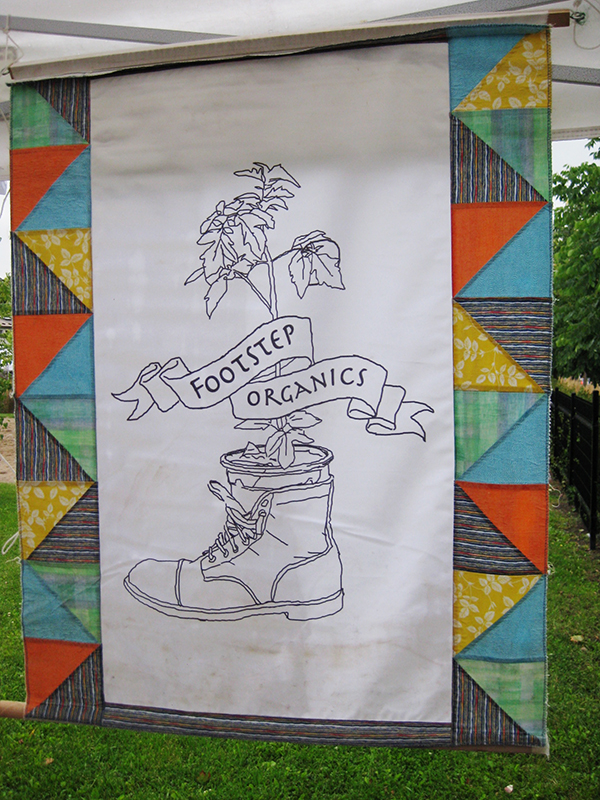 Footsteps Organic sign.