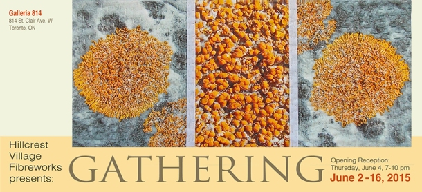 Gathering exhibition poster.