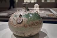 Ancient glass jar.