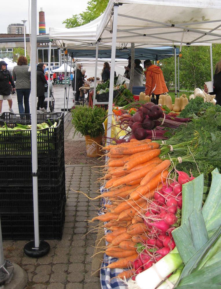 At Wychwood Farmers' Market.