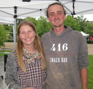 Young farmers Paul and Shira.