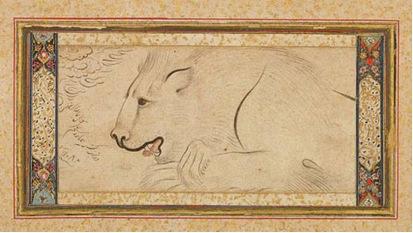 Resting lion.