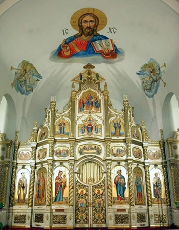 Iconostasis in the Ukrainian Orthodox Church of St Demetrius