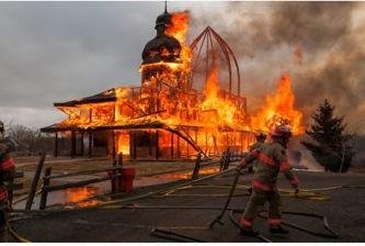 St Elias the Prophet Church burned