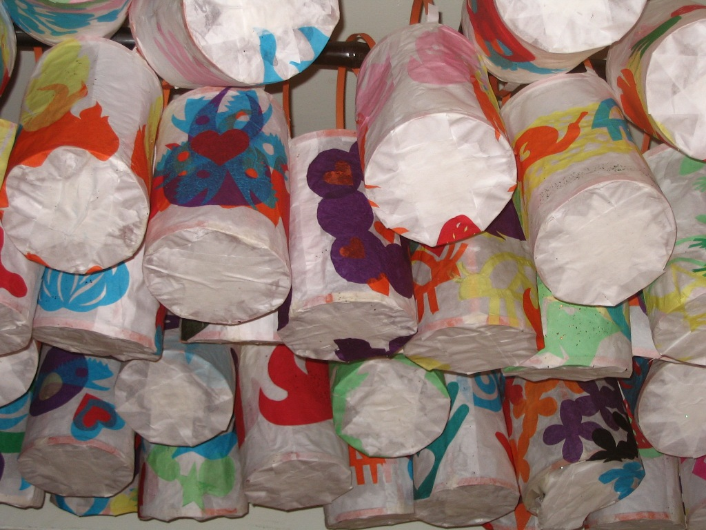 Solstice Festival lanterns.