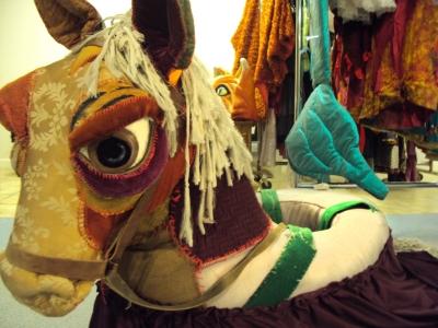 Horse puppet.