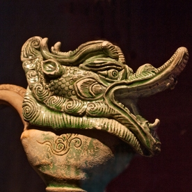 Dragon head of ewer.