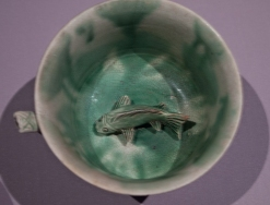 Fish in cup.