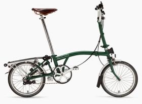 Brompton folding bike.