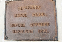 Plaque refuge offered Napoleon.