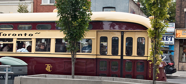 Old streetcar on St. Clair.