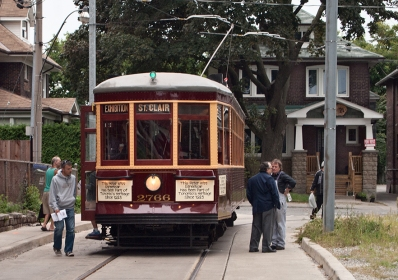 Old streetcar at Robina loop just off St. Clair.