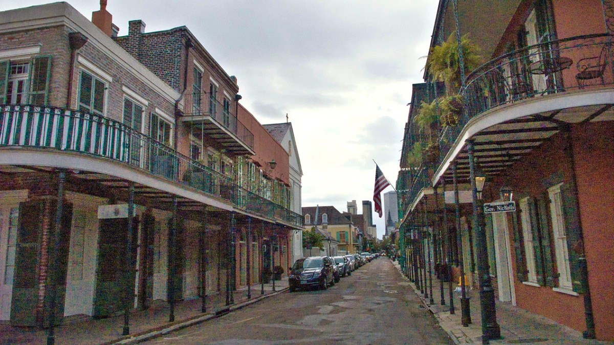 Old and new streetscape, New Orleans.