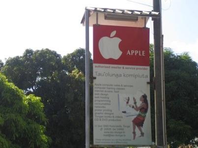 Apple sign, Tonga.