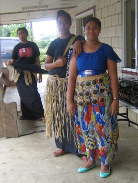 Church girls, Tonga.