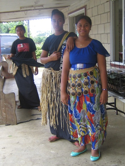 Church girls, Tonga.