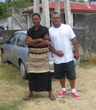 Church young men, Tonga.