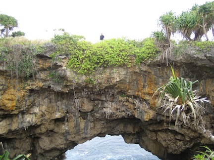 Land bridge, Tonga.