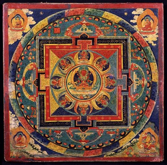 Amitayus Mandala, 19C Tibet.
