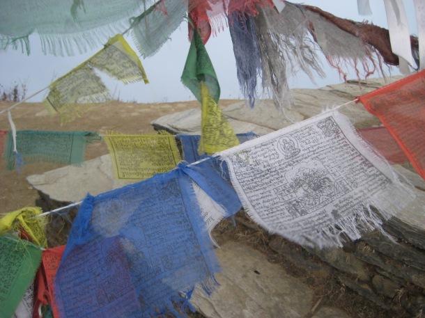 Buddhist flags.