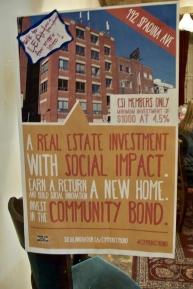 Community bond sign.