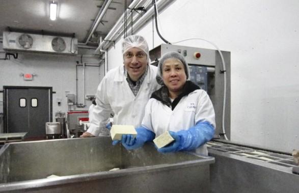 Tofu manufacture.