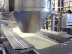 Liquid cheese in tank.