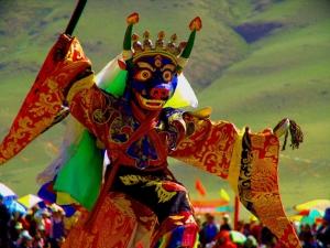 Tibetan opera mask.