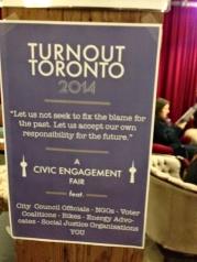 Turnout Toronto poster.