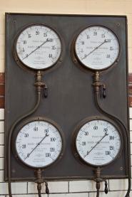 Pressure gauges.