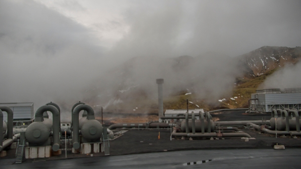 Iceland geothermal plant.