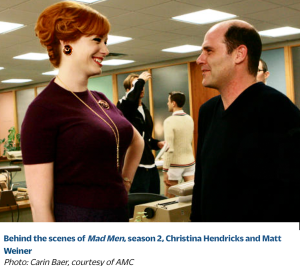 Matthew Weiner and Christina Hendricks