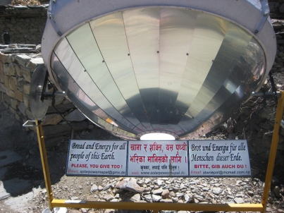 Nepal solar cooker.