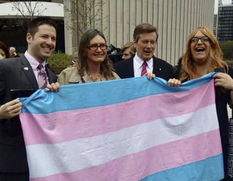 Trans people with the Mayor